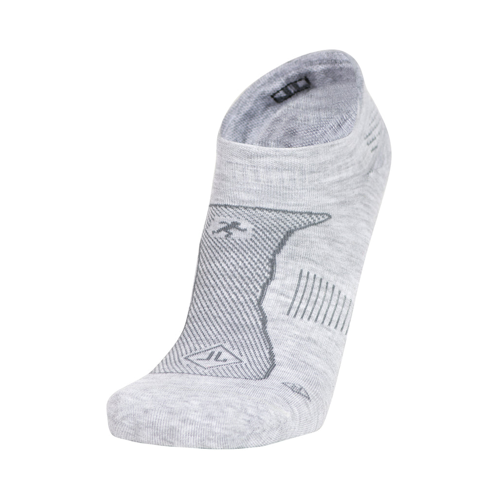 MEN'S HEATHER GREY NO SHOW PERFORMANCE SOCKS