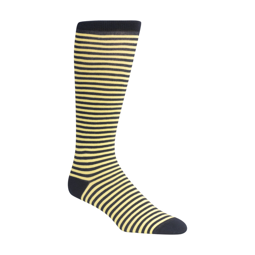NAVY & LIGHT YELLOW CANDY STRIPE