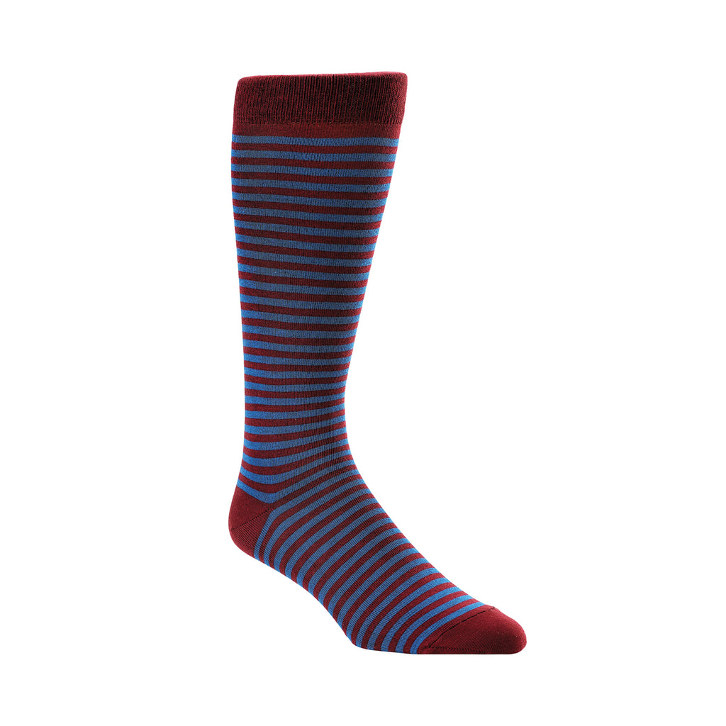 ROYAL BLUE & BURGUNDY CANDY STRIPE