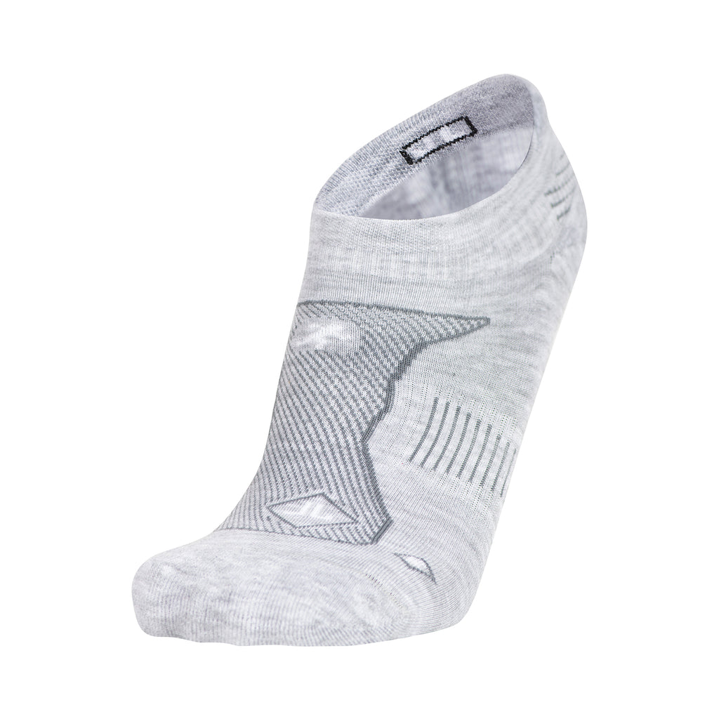 WOMEN'S LIGHT HEATHER GREY NO SHOW PERFORMANCE SOCKS