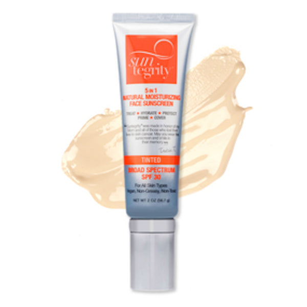 "Suntegrity Skincare ""5 in 1"" Moisturizing Tinted Face Protection"