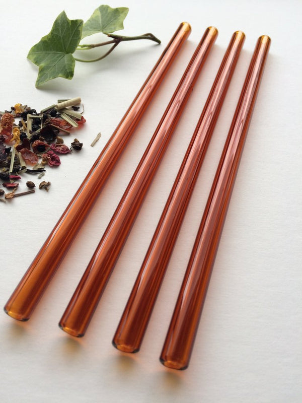 Brook Drabot Glass Straws - amber