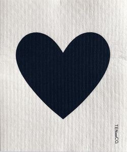 Ten And Co Sponge Cloth - Big Love Black Heart