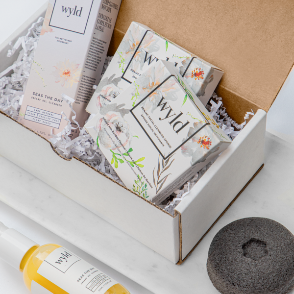 Wyld Seas the Day Cleanser + Bamboo Charcoal Konjac Sponge - Anise Modern Apothecary