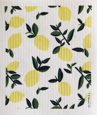 Ten And Co Sponge Cloth - Vintage Lemon