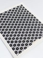 Ten And Co. Sponge Cloth Starburst Gold & Black on White - Anise Modern Apothecary
