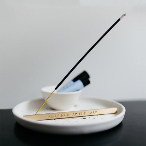 Province Apothecary Horizon Brass Incense Holder - Anise Modern Apothecary