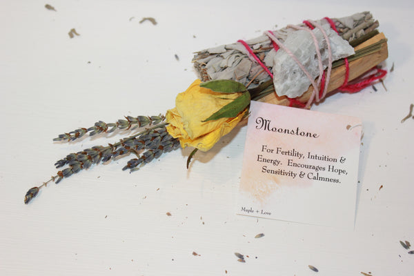 Maple + Love Sage Smudge - Moonstone