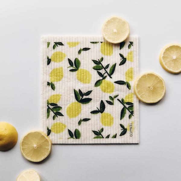 Ten And Co Sponge Cloth - Vintage Lemon - Anise Modern Apothecary