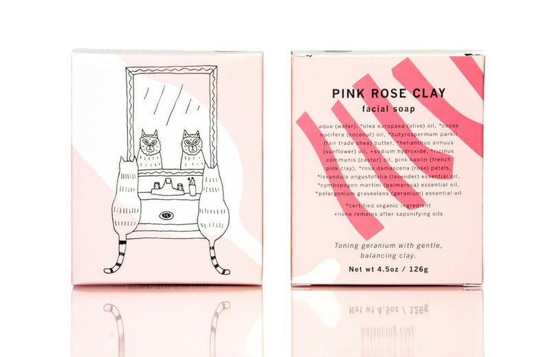 Meow Meow Tweet Pink Rose Facial Soap - Anise Modern Apothecary