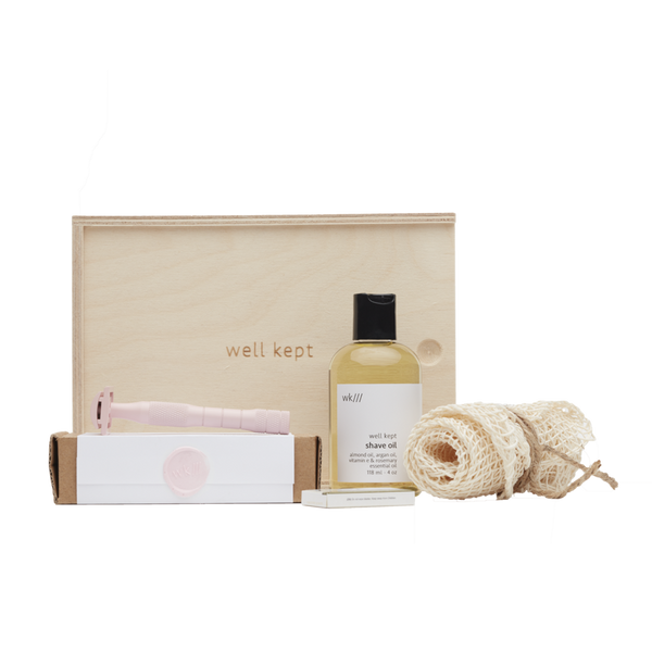 Well Kept Safety Razor Kit in Rose - Anise Modern Apothecary