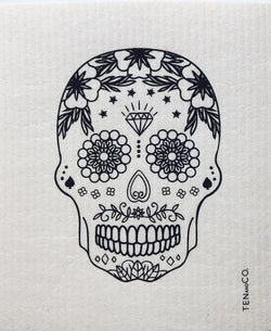 Ten and Co. Sponge Cloth - Sugar Skull - Anise Modern Apothecary