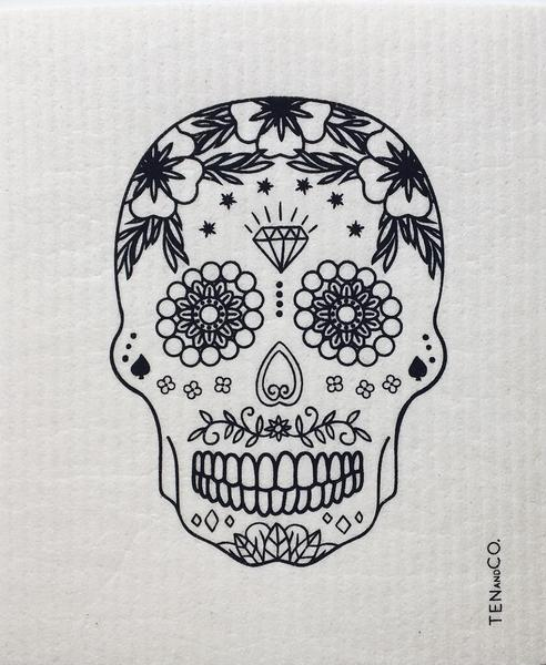 Ten and Co. Sponge Cloth - Sugar Skull