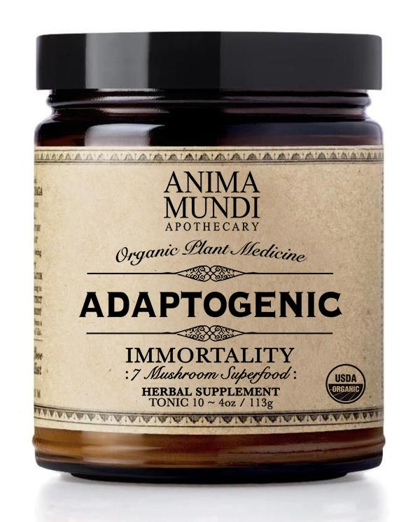 Anima Mundi Herbals : Adaptogenic Immortality (7 mushrooms + Cacao)