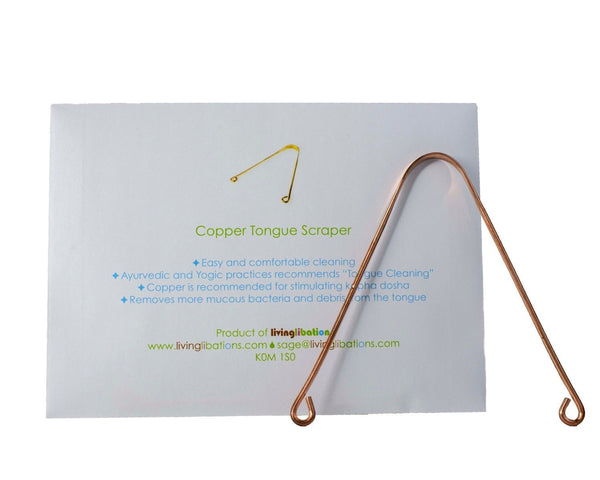 Living Libations Copper Tongue Scraper - Anise Modern Apothecary
