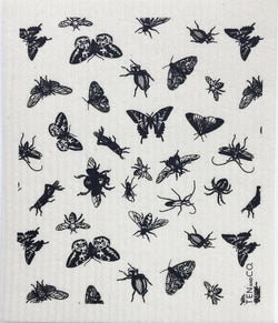 Ten And Co Sponge Cloth - Bugs Black - Anise Modern Apothecary