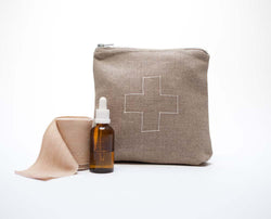 Pi'lo Ditty Bag in Natural Linen - Anise Modern Apothecary
