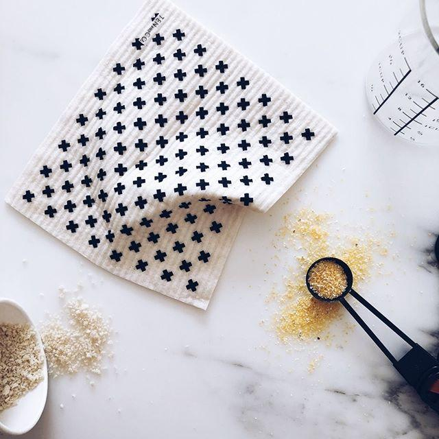 Ten And Co Sponge Cloth - Tiny X - Anise Modern Apothecary