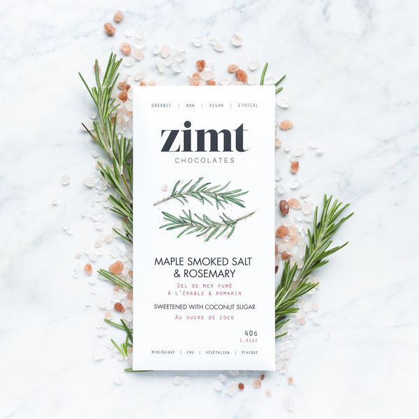 Zimt Chocolates - Maple Smoked Salt & Rosemary Bar - Anise Modern Apothecary