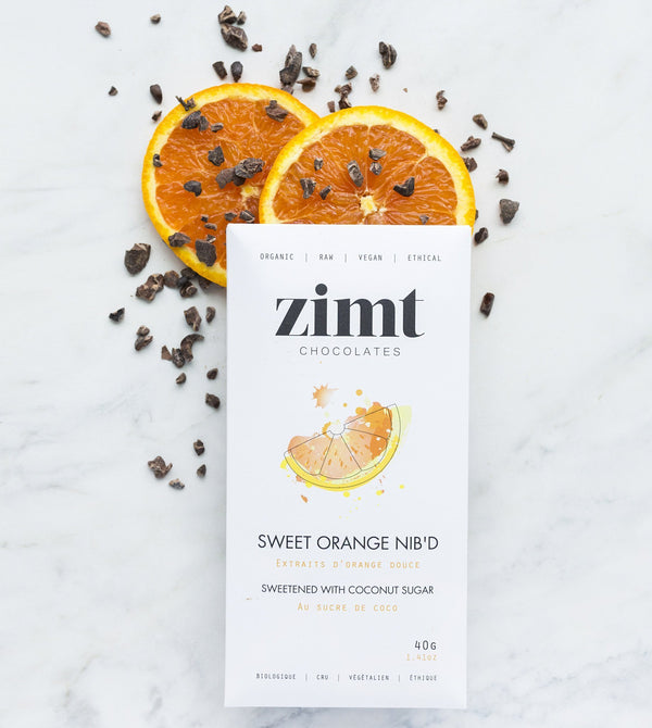 Zimt Chocolates - Sweet Orange Nib'd Bar - Anise Modern Apothecary