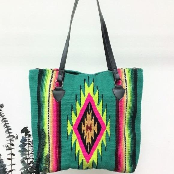 Neon serape bag