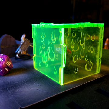 gelatinous cube miniature for dungeons & dragons