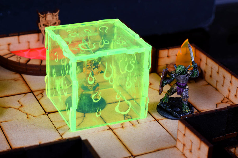 gelatinous cube miniature for tabletop rpg
