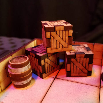 crates and barrels for dungeons & dragons scatter scenery terrain