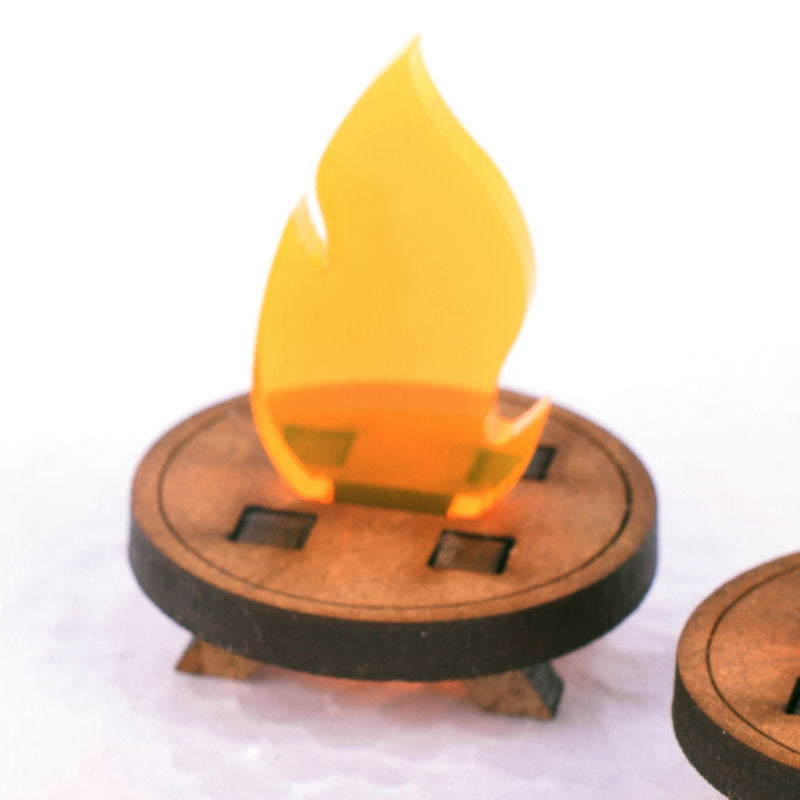 miniature brazier torch for tabletop and rpg gaming