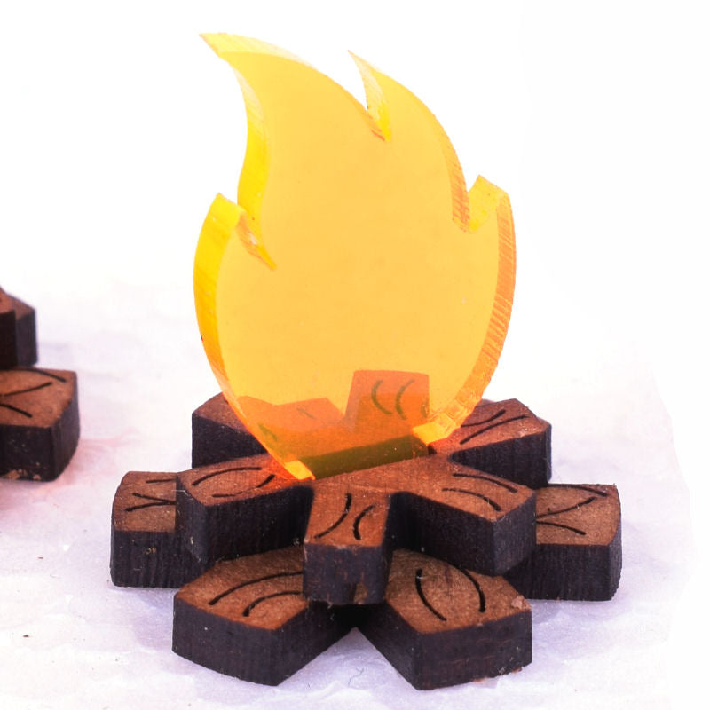 miniature campfire for tabletop and rpg gaming