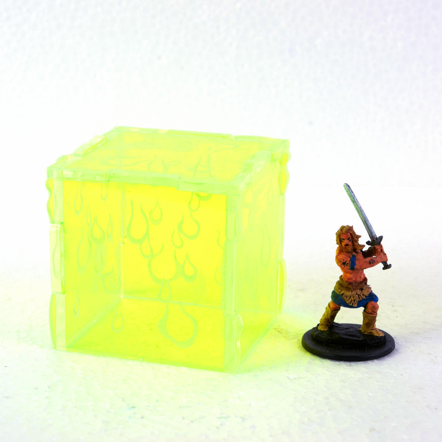 gelatinous cube mini for d&d, pathfinder, gaming