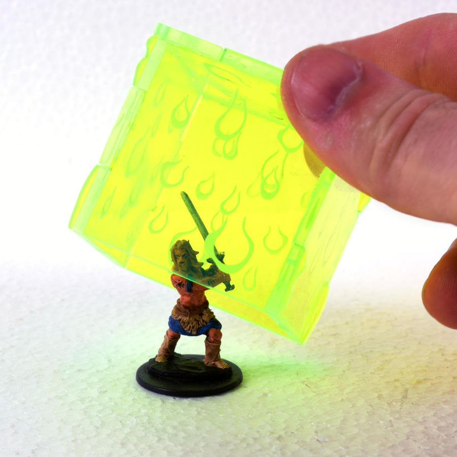 gelatinous cube miniature for d&d, pathfinder, gaming