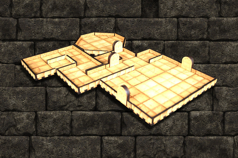 Modular Dungeon Tile Set for dungeons and dragons