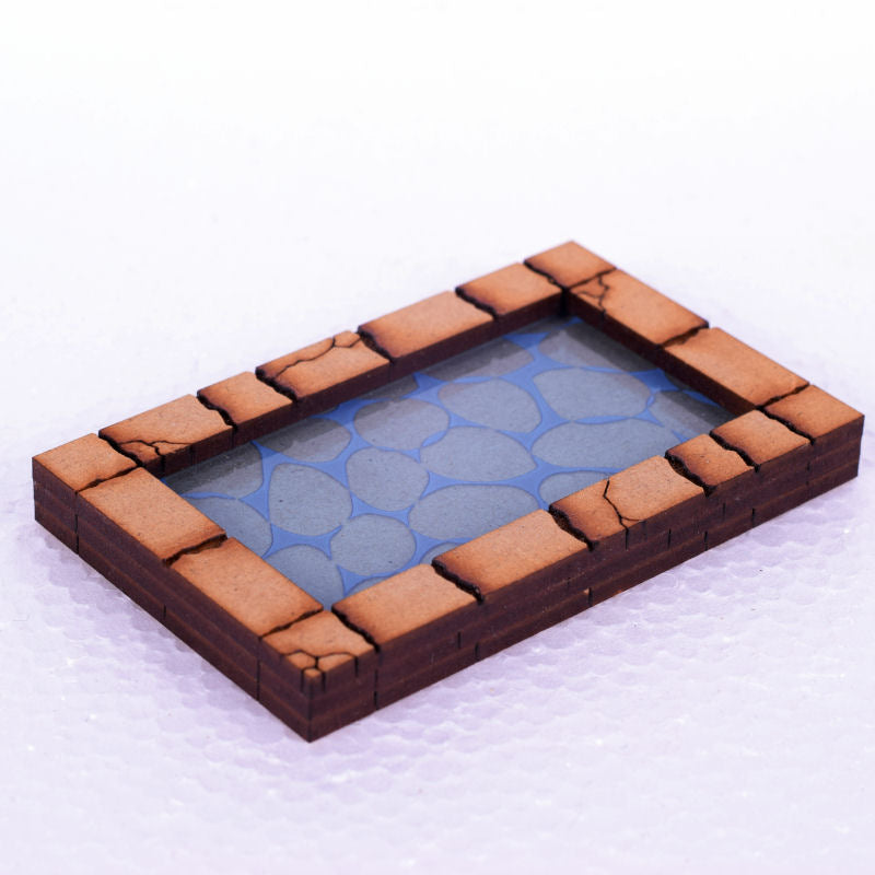 rectangular pool for tabletop and rpg gaming