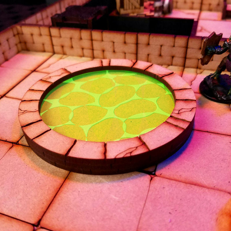 round pool in dungeon with slime insert