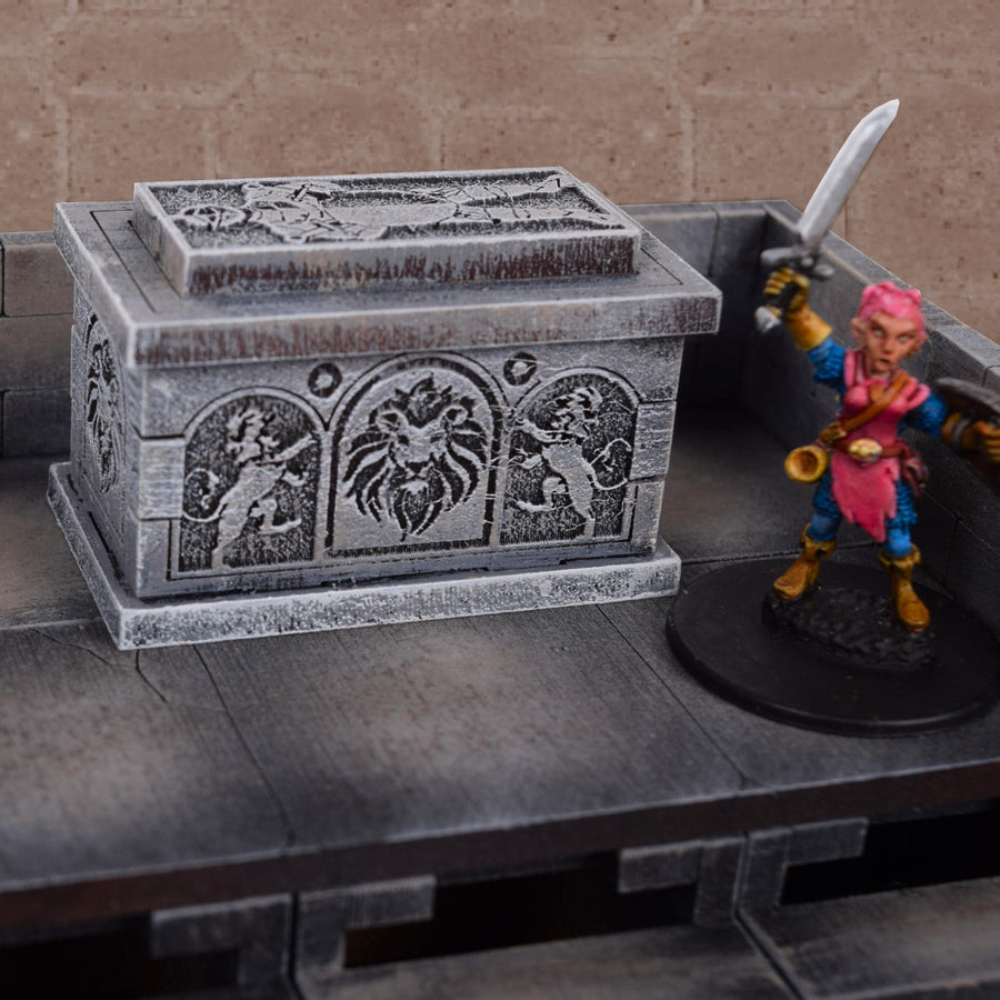 stone sarcophagus for dungeons & dragons
