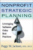 Nonprofit Strategic Planning: