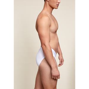 """BOY SMELLS"" WHITE POUCH FRONT BRIEF"