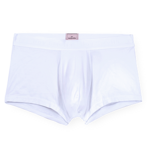 "MEN'S ""BOY SMELLS"" WHITE BOXER BRIEF"