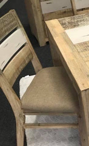 CHATEAU DINING CHAIR WITH LIGHT FABRIC SEAT