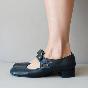 Mary Janes Summer Low Heel Vintage Women Shoes