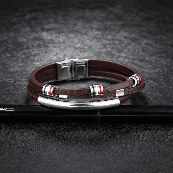 Helix Leather Bracelet