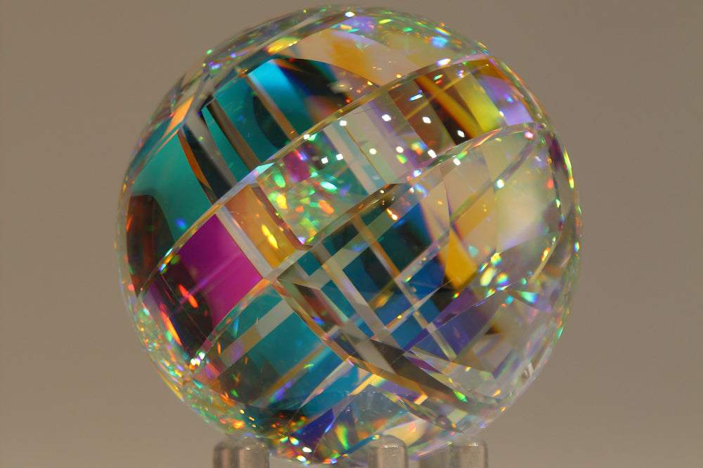 Chroma Spherix Crystal Glass Sculpture by Fine Art Glass Artist Jack StormsIMG_1707