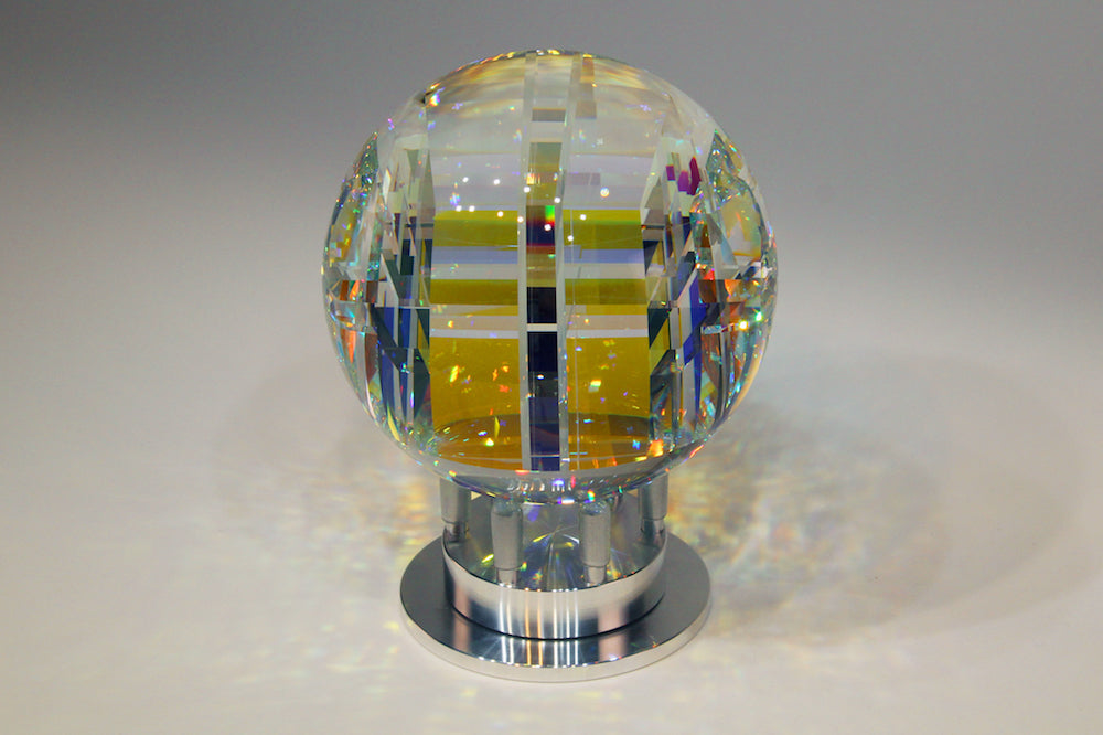 Full Core Spherix Crystal Glass Sculpture by Fine Art Glass Artist Jack StormsIMG_1563