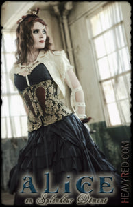Alice en Splendeur Dément - Brocade Heart Corset