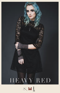 Keyhole Lace Mourning Dress