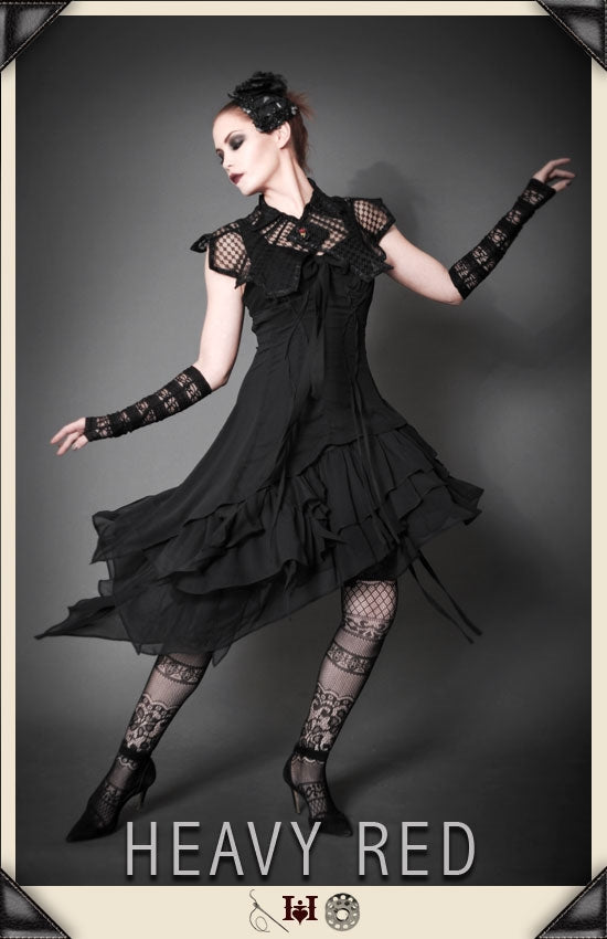 Ineffable Darkness Chiffon Dress