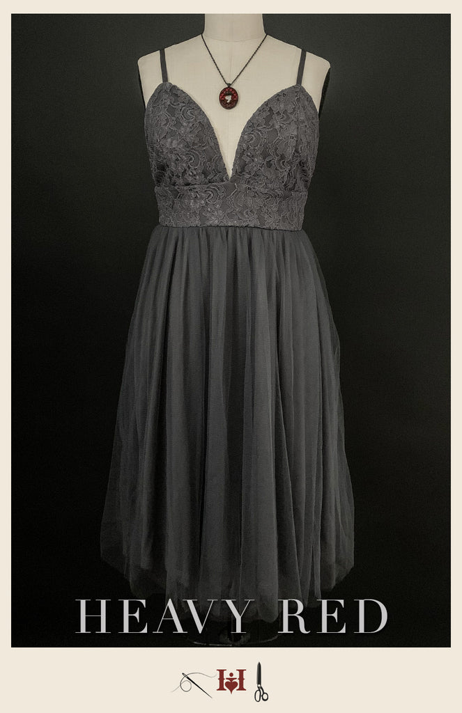 Destitute In Gray Tulle Dress