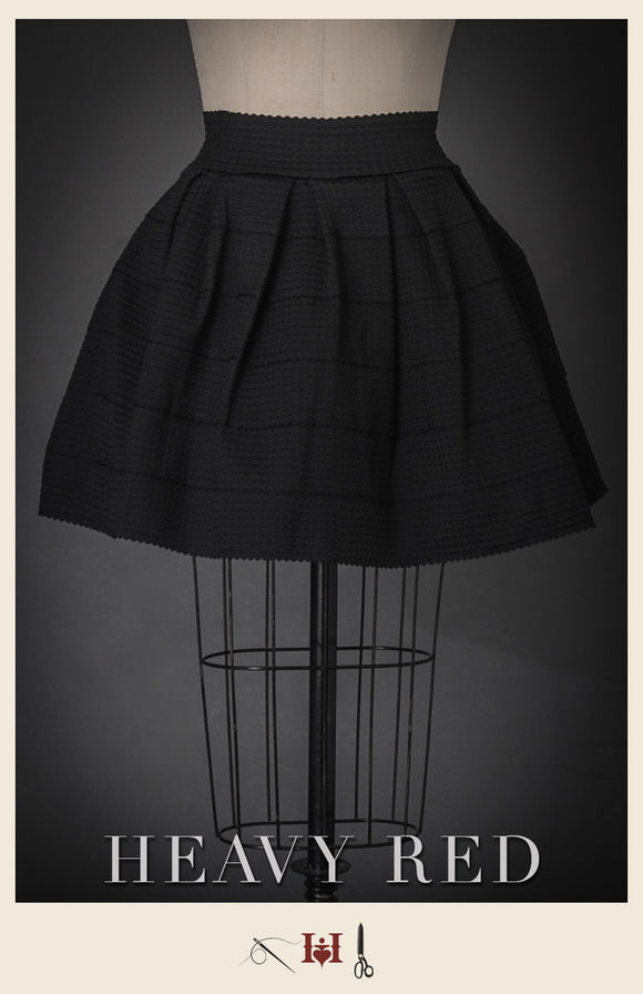 French Pleated Umbrella Skirt