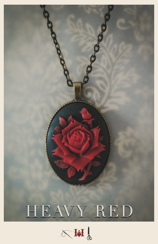 Red Rose Passion Cameo